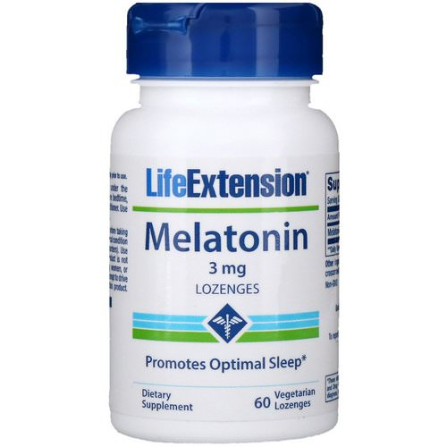 Life Extension, Melatonin, 3 mg, 60 Vegetarian Lozenges فوائد