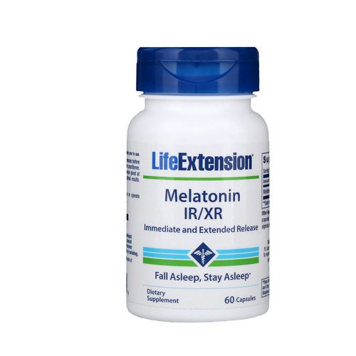 Life Extension, Melatonin IR/XR, 60 Capsules فوائد
