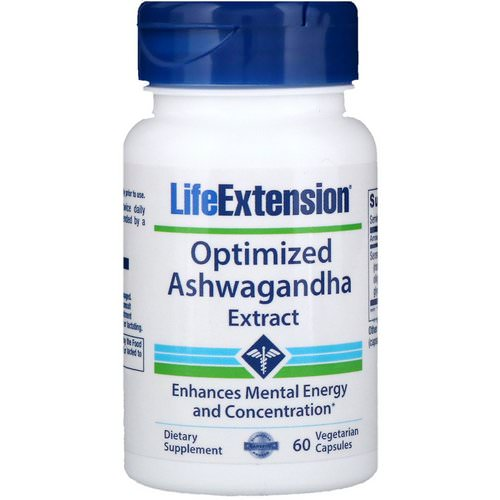 Life Extension, Optimized Ashwagandha Extract, 60 Vegetarian Capsules فوائد