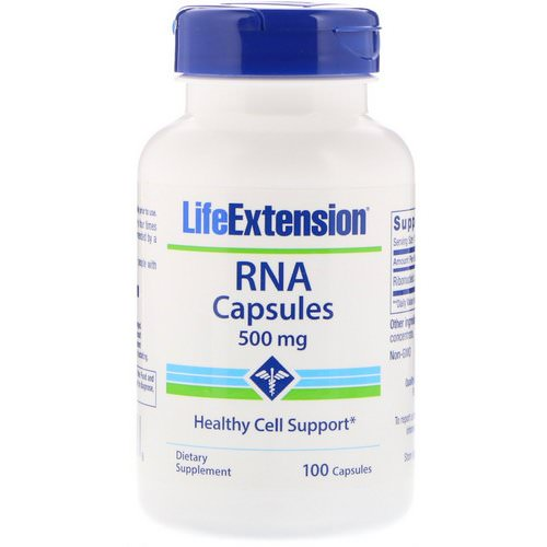 Life Extension, RNA Capsules, 500 mg, 100 Capsules فوائد