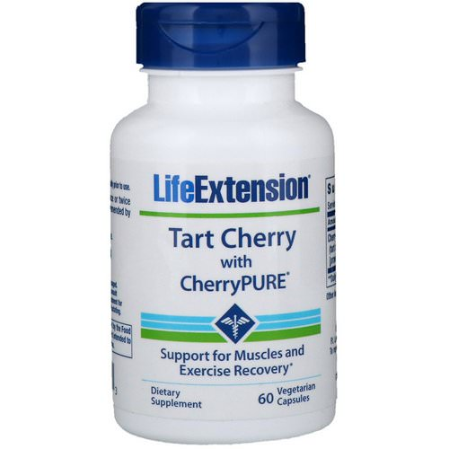 Life Extension, Tart Cherry with CherryPure, 60 Vegetarian Capsules فوائد