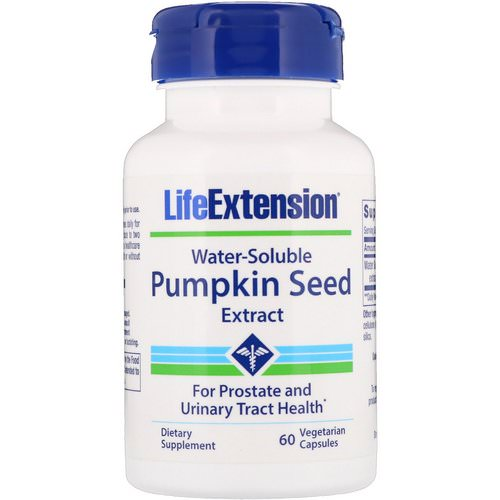 Life Extension, Water-Soluble Pumpkin Seed Extract, 60 Vegetarian Capsules فوائد