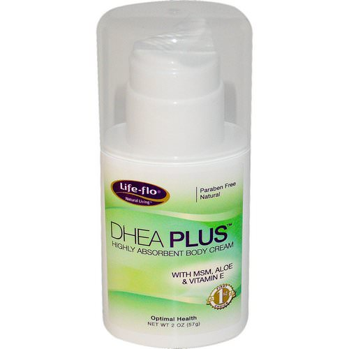 Life-flo, DHEA Plus, Highly Absorbent Body Cream, 2 oz (57 g) فوائد