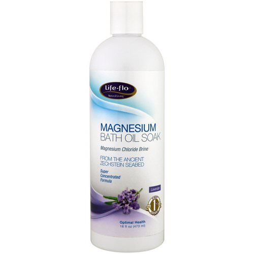 Life-flo, Magnesium Bath Oil Soak, Lavender, 16 fl oz (473 ml) فوائد