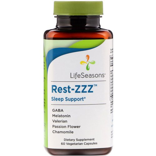 LifeSeasons, Rest-ZZZ Sleep Support, 60 Vegetarian Capsules فوائد