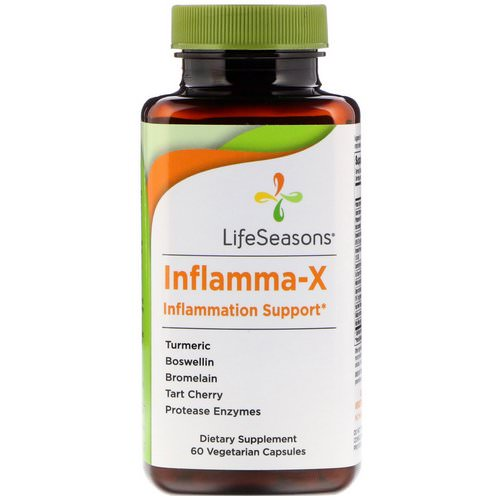 LifeSeasons, Inflamma-X, Inflammation Support, 60 Vegetarian Capsules فوائد