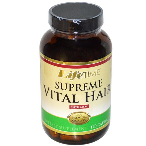 LifeTime Vitamins, Supreme Vital Hair with MSM, 120 Capsules فوائد