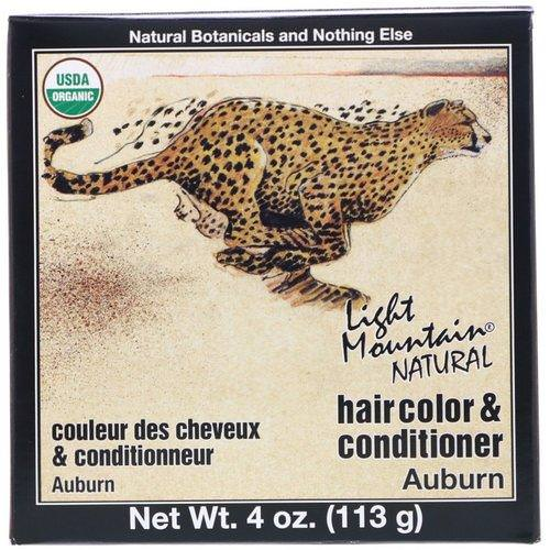 Light Mountain, Organic Natural Hair Color & Conditioner Application Kit, Auburn, 4 oz (113 g) فوائد