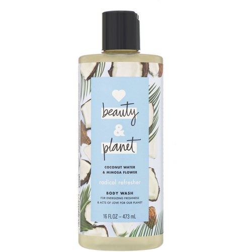 Love Beauty and Planet, Radical Refresher Body Wash, Coconut Water & Mimosa Flower, 16 fl oz (473 ml) فوائد