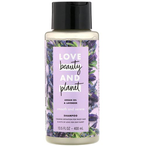 Love Beauty and Planet, Smooth and Serene Shampoo, Argan Oil & Lavender, 13.5 fl oz (400 ml) فوائد