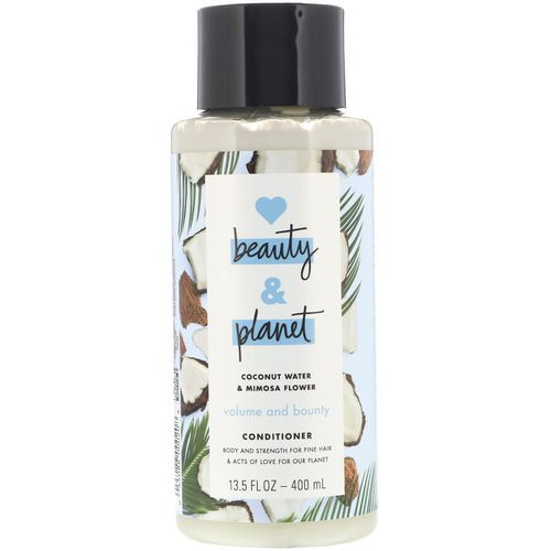 Love Beauty and Planet, Volume and Bounty Conditioner, Coconut Water & Mimosa Flower, 13.5 fl oz (400 ml) فوائد