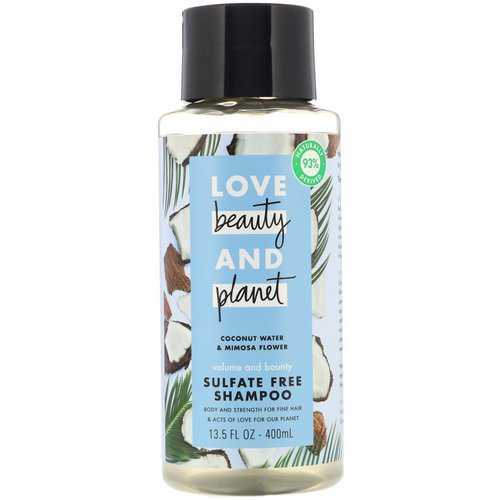 Love Beauty and Planet, Volume and Bounty Shampoo, Coconut Water & Mimosa Flower, 13.5 fl oz (400 ml) فوائد