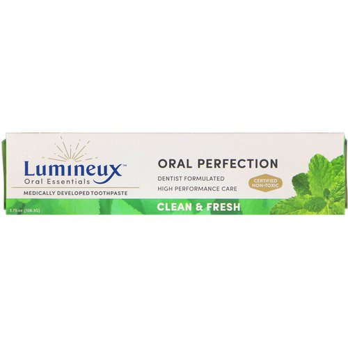Lumineux Oral Essentials, Medically Developed Toothpaste, Clean & Fresh, 3.75 oz (106.3 g) فوائد