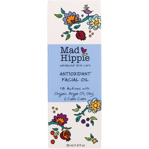 Mad Hippie Skin Care Products, Antioxidant Facial Oil, 1.0 fl oz (30 ml) فوائد