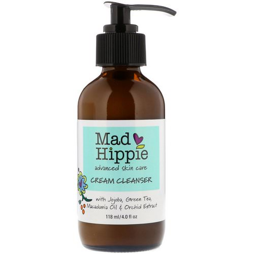 Mad Hippie Skin Care Products, Cream Cleanser, 13 Actives, 4.0 fl oz (118 ml) فوائد