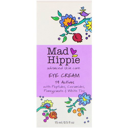Mad Hippie Skin Care Products, Eye Cream, 14 Actives, 0.5 fl oz (15 ml) فوائد