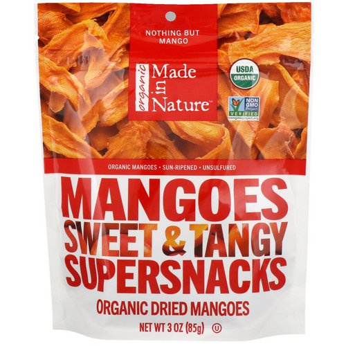 Made in Nature, Organic Dried Mangoes Sweet & Tangy Supersnacks, 3 oz (85 g) فوائد