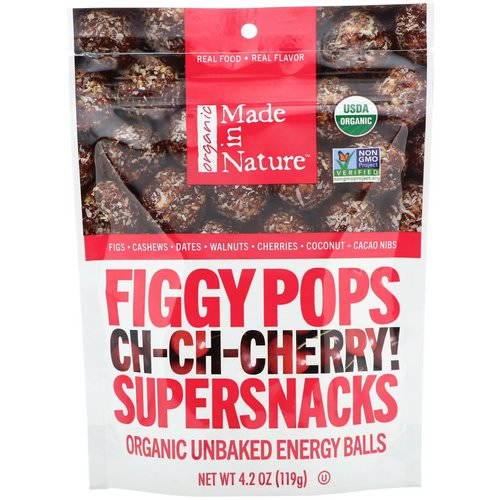 Made in Nature, Organic Figgy Pops, Ch-Ch-Chery Supersnacks, 4.2 oz (119 g) فوائد