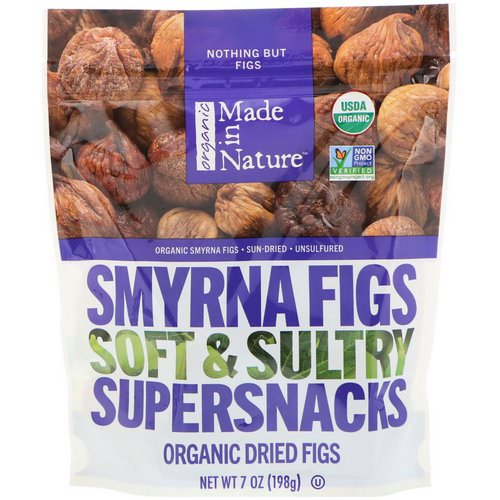 Made in Nature, Organic Dried Smyrna Figs, Soft & Sultry Supersnacks, 7 oz (198 g) فوائد