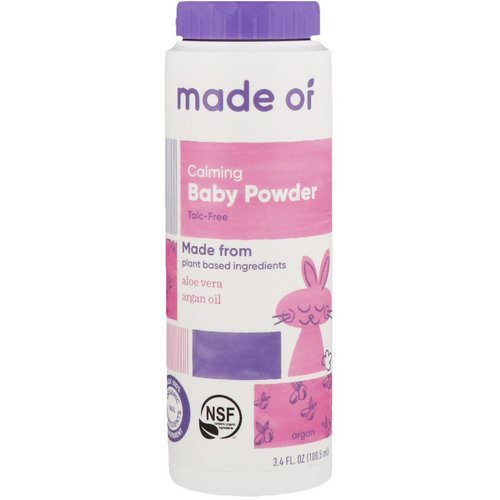 MADE OF, Calming Baby Powder, 3.4 fl oz (100.5 ml) فوائد