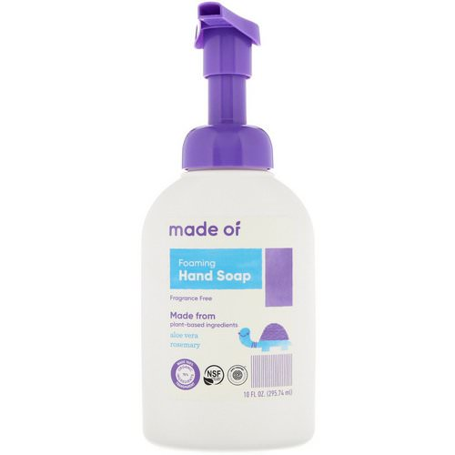 MADE OF, Foaming Hand Soap, Fragrance Free, 10 fl oz (295.74 ml) فوائد