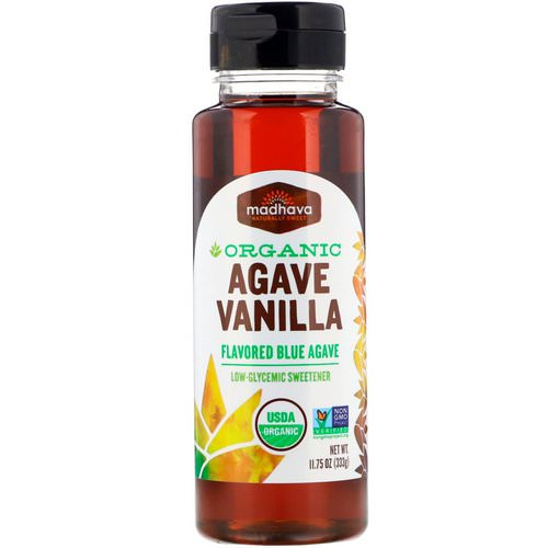 Madhava Natural Sweeteners, Organic Agave, Vanilla, 11.75 oz (333 g) فوائد