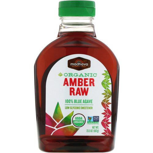 Madhava Natural Sweeteners, Organic Amber Raw Blue Agave, 23.5 oz (667 g) فوائد