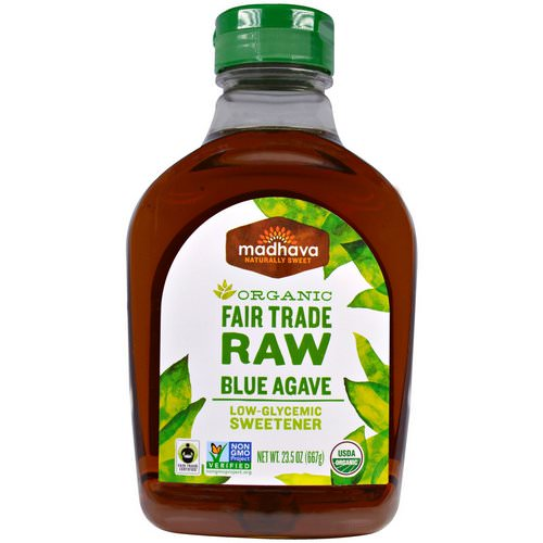 Madhava Natural Sweeteners, Organic Fair Trade Raw Blue Agave, 1.5 lbs (667 g) فوائد