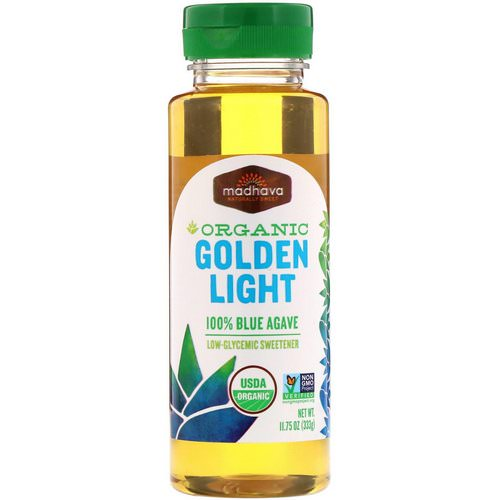 Madhava Natural Sweeteners, Organic Golden Light 100% Blue Agave, 11.75 oz (333 g) فوائد