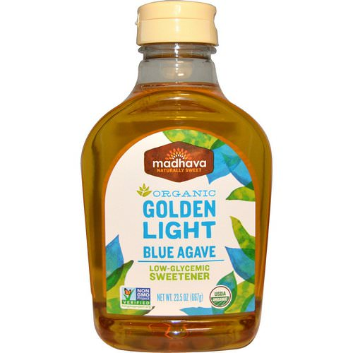 Madhava Natural Sweeteners, Organic Golden Light Blue Agave, 23.5 oz (667 g) فوائد