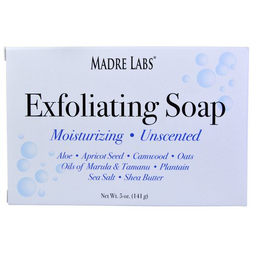 Madre Labs, Exfoliating Bar Soap, with Marula & Tamanu Oils plus Shea Butter, Unscented, 5 oz (141 g) فوائد
