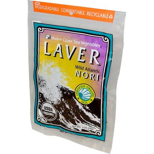 Maine Coast Sea Vegetables, Organic Laver, Wild Atlantic Nori, 1 oz (28 g) فوائد