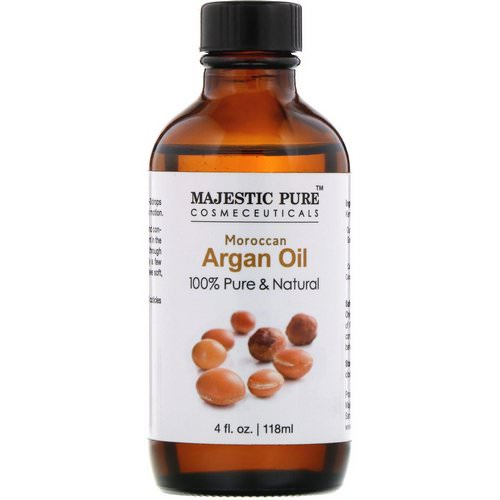 Majestic Pure, 100% Pure & Natural, Moroccan Argan Oil, 4 fl oz (118 ml) فوائد