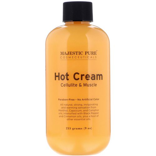 Majestic Pure, Hot Cream, Cellulite & Muscle, 9 oz (255 g) فوائد