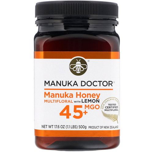 Manuka Doctor, Manuka Honey Multifloral with Lemon, MGO 45+, 1.1 lb (500 g) فوائد