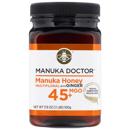 Manuka Doctor, Manuka Honey Multifloral with Ginger, MGO 45+, 1.1 lbs (500 g) فوائد