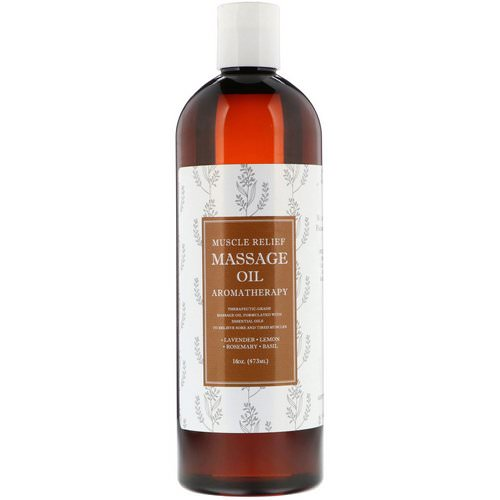Maple Holistics, Muscle Relief Massage Oil, Aromatherapy, 16 oz (473 ml) فوائد