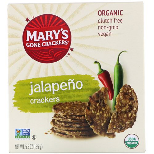 Mary's Gone Crackers, Jalapeno Crackers, 5.5 oz (155 g) فوائد
