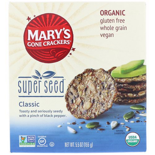 Mary's Gone Crackers, Organic, Super Seed Crackers, Classic, 5.5 oz (155 g) فوائد