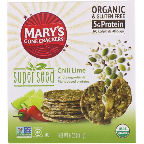 Mary's Gone Crackers, Super Seed Crackers, Chili Lime, 5 oz (141 g) فوائد