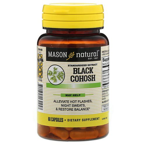 Mason Natural, Black Cohosh, Standardized Extract, 60 Capsules فوائد