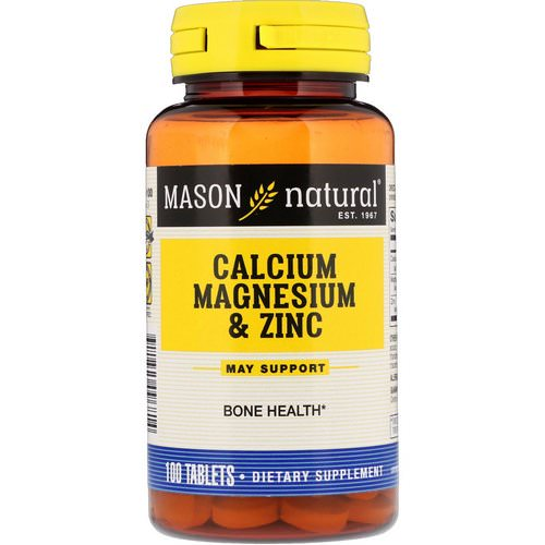 Mason Natural, Calcium Magnesium & Zinc, 100 Tablets فوائد