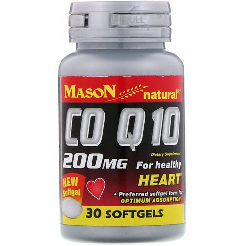 Mason Natural, CO Q-10, 200 mg, 30 Softgels فوائد