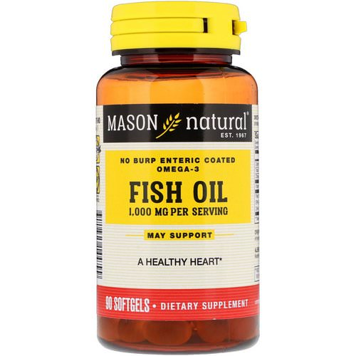 Mason Natural, Fish Oil, 1,000 mg, 90 Softgels فوائد