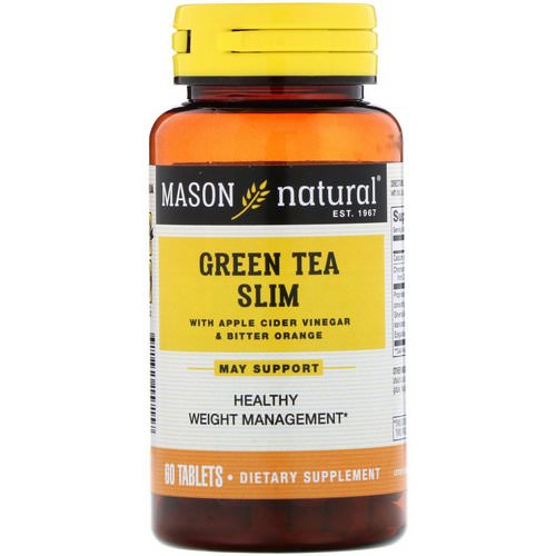 Mason Natural, Green Tea Slim, 60 Tablets فوائد