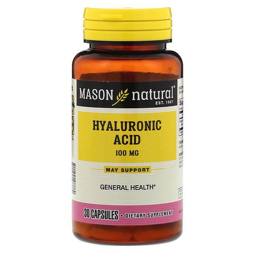 Mason Natural, Hyaluronic Acid, 100 mg, 30 Capsules فوائد
