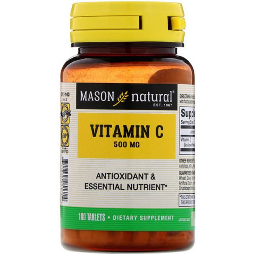 Mason Natural, Vitamin C, 500 mg, 100 Tablets فوائد