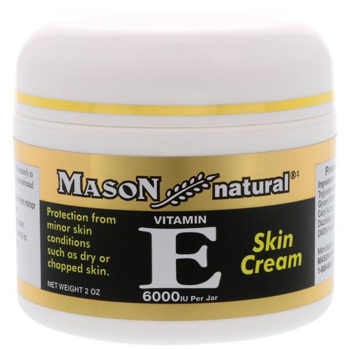 Mason Natural, Vitamin E, Skin Cream, 6000 IU, 2 oz فوائد
