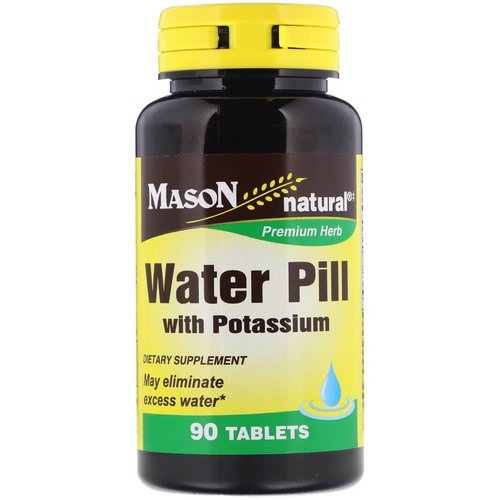 Mason Natural, Water Pill with Potassium, 90 Tablets فوائد