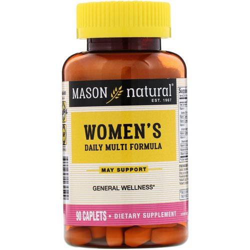 Mason Natural, Women's Daily Multi Formula, 90 Caplets فوائد